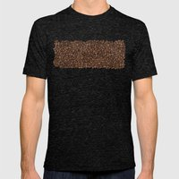 Coffee Beans Mens Fitted Tee Tri-Black SMALL