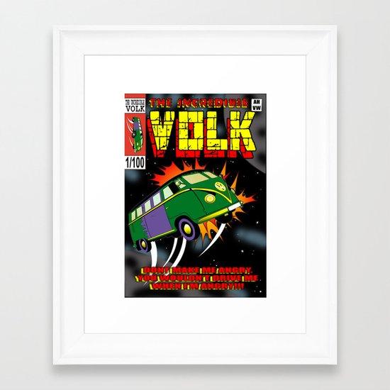 The Incredible Volk Framed Art Print