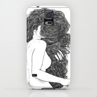 Galaxy S5 Cases featuring Apollonia Saintclair 590 - 20150826 Le peigne (Combing her hair) by From Apollonia with Love