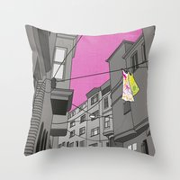 Historical Street View Throw Pillow