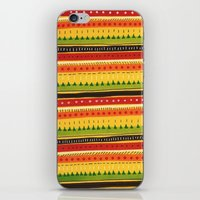 Pattern Doodle (Yellow) iPhone & iPod Skin