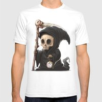 Tempus Fugit Mens Fitted Tee White SMALL