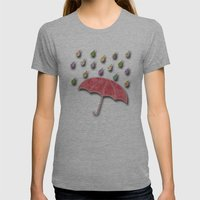 It's Raining, It's Pouri… Womens Fitted Tee Athletic Grey SMALL