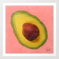 Avocado For Lola Art Print