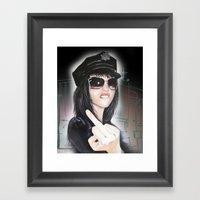 NYPD Rebel Framed Art Print