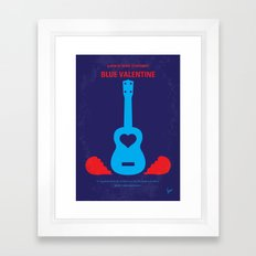 No379 My Blue Valentine minimal movie poster Framed Art Print