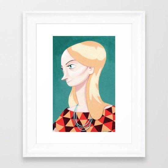 Blond Girl Framed Art Print