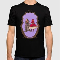 Little Red Riding Hijabi Mens Fitted Tee Black SMALL