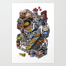 Pizza Machine Art Print