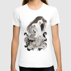 The Dragon's Gate Womens Fitted Tee White SMALL