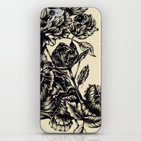 Peonies, black & white  iPhone & iPod Skin