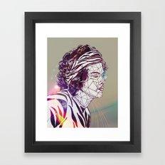 Geometric Harry Framed Art Print