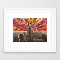 BLOOMING NY Framed Art Print