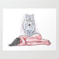 Wolf And I Art Print