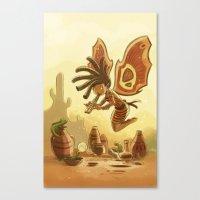 Goblins Drool, Fairies Rule! - Kokopelli Canvas Print