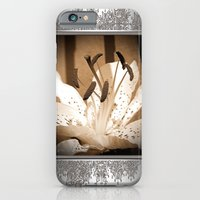 iPhone & iPod Case featuring Oriental Lily named Muskadet by JMcCombie