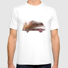 Drive Me Back Home Mens Fitted Tee White SMALL