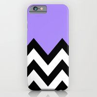iPhone & iPod Case featuring PURPLE COLORBLOCK CHEVRON by natalie sales