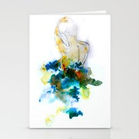Spring Figure Stationery Cards