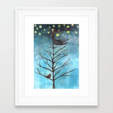 in the nothing of a night Framed Art Print