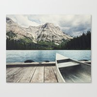 Canoeing the Wilds Canvas Print