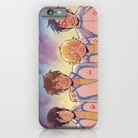 anime iPhone & iPod Cases featuring swimming anime by Tyler Long