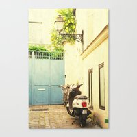 Montmartre Scooter Canvas Print