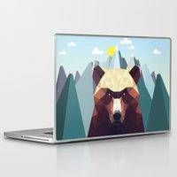mountain Laptop & iPad Skins featuring Bear Mountain  by Davies Babies