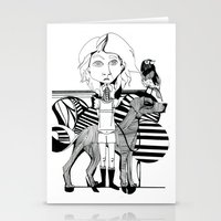 The Girl, Her Dog And A … Stationery Cards