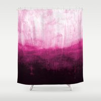 Paint 7 pink abstract painting ocean sea minimal modern bright colorful dorm college urban flat Shower Curtain