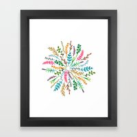 Radial Foliage Framed Art Print