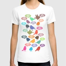 Birdsong Gosh Quotes by Rachel Burbee & Garima Dhawan Womens Fitted Tee White SMALL