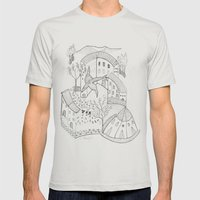 GeometriART 01 Mens Fitted Tee Silver SMALL