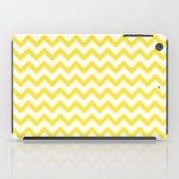 Funky Chevron Yellow Pat… iPad Case