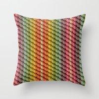 Wooden Asanoha Colorful Throw Pillow