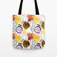 Watercolor Geo Floral Tote Bag