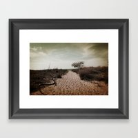 Beach Path Framed Art Print
