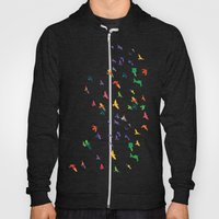 Colorful flying birds group Hoody