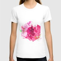 Splash1 Womens Fitted Tee White SMALL