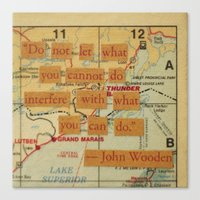 John Wooden Quote Canvas Print