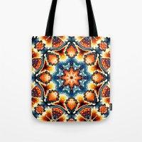 Colorful Concentric Motif Tote Bag