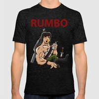 Rumbo - An incredibly violent and constantly drunk soldier of doom Mens Fitted Tee Tri-Black SMALL