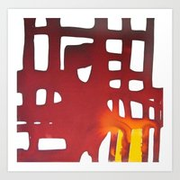 Dawn at metropolis Art Print
