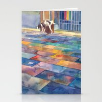 Dog and the city Stationery Cards