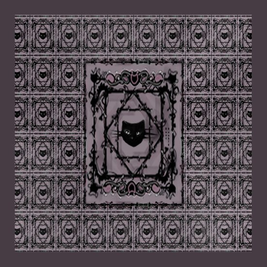 pattern (purple/lovecats) Art Print