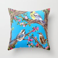Hey Friends Throw Pillow