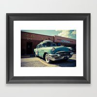 The Buick (brown Edition… Framed Art Print
