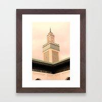 Grande Mosquee de Paris  Framed Art Print