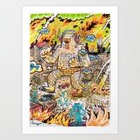 Rock The Town ! Art Print