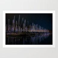 Harbor Night Art Print